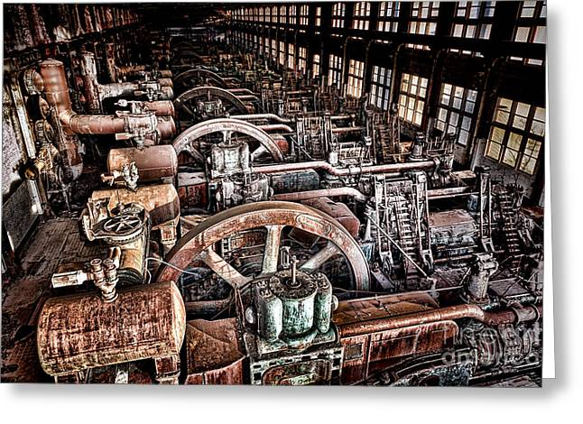 The Industrial Age Greeting Card by Olivier Le Queinec