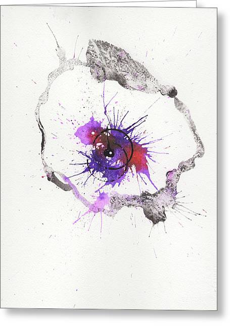 The Inexplicable Ignition Of Time Expanding Into Free Space Phase Two Number 04 Greeting Card by Mark M  Mellon