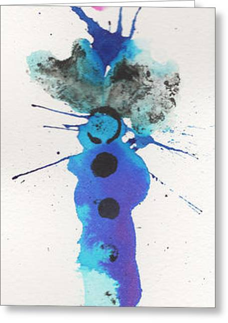 The Inexplicable Ignition Of Time Expanding Into Free Space Phase Two Number 20 Greeting Card by Mark M  Mellon