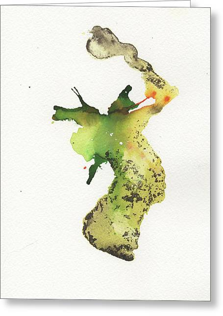 The Inexplicable Ignition Of Time Expanding Into Free Space Phase Two Number 26 Greeting Card by Mark M  Mellon