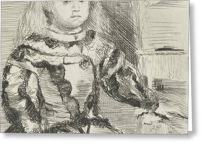 The Infanta Margarita Greeting Card by Edgar Degas