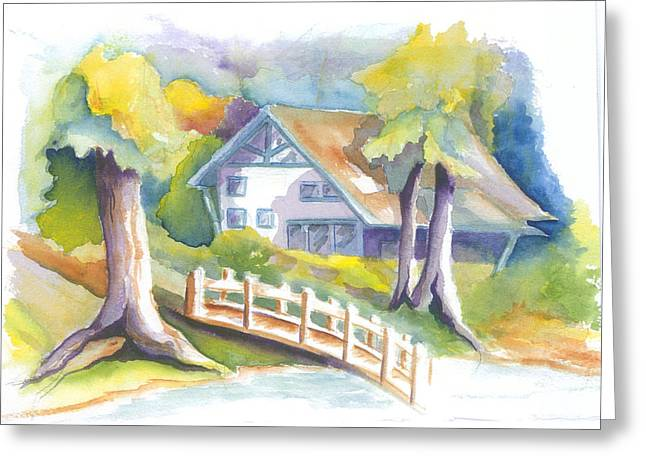 The Inn Greeting Card by KC Winters