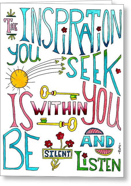 The Inspiration Greeting Card by Lynne Furrer