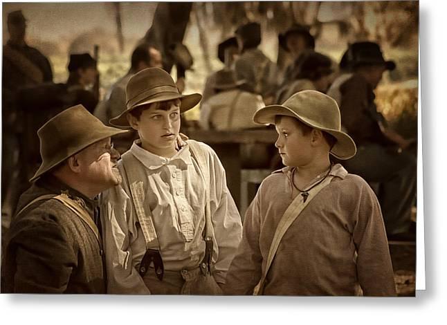 The Instructions - 1 - Civil War Reenactment Greeting Card