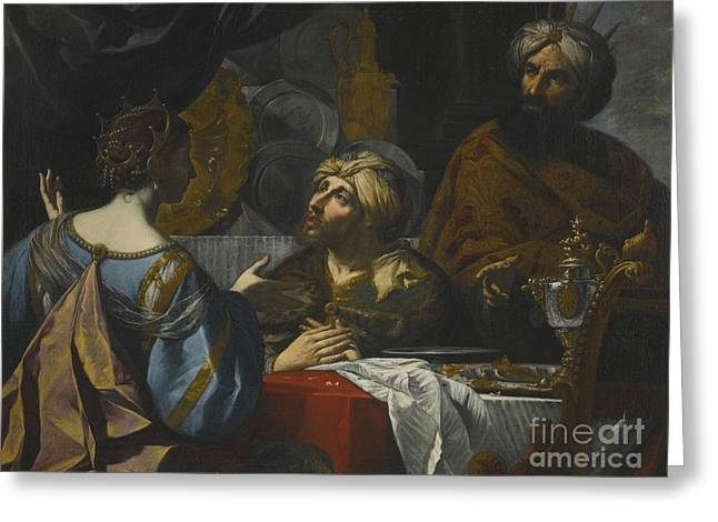 The Intercession Of Esther With King  Greeting Card by MotionAge Designs