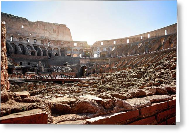 The Interior Of The Roman Coliseum Greeting Card