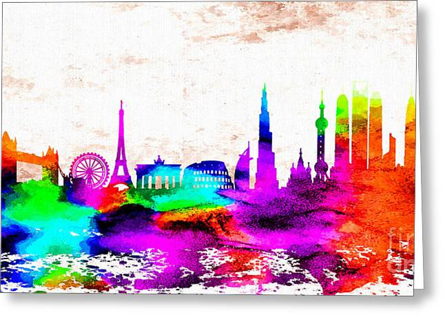 The International Skyline Greeting Card