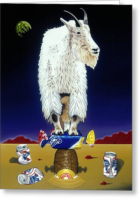 The Intoxicated Mountain Goat Greeting Card