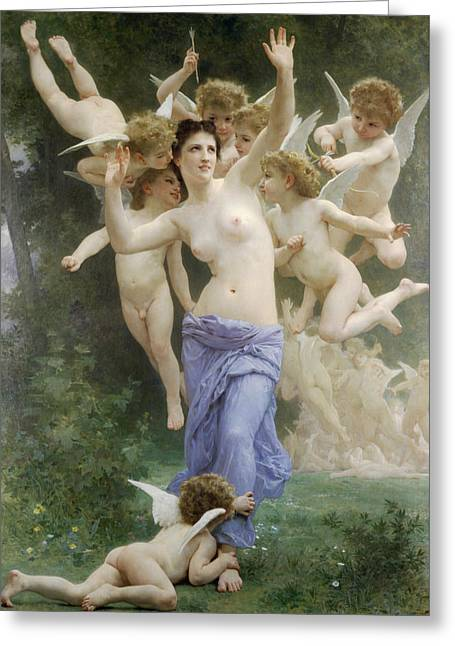 The Invasion Greeting Card by William-Adolphe Bouguereau