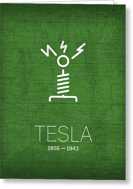The Inventors Series 002 Tesla Greeting Card by Design Turnpike