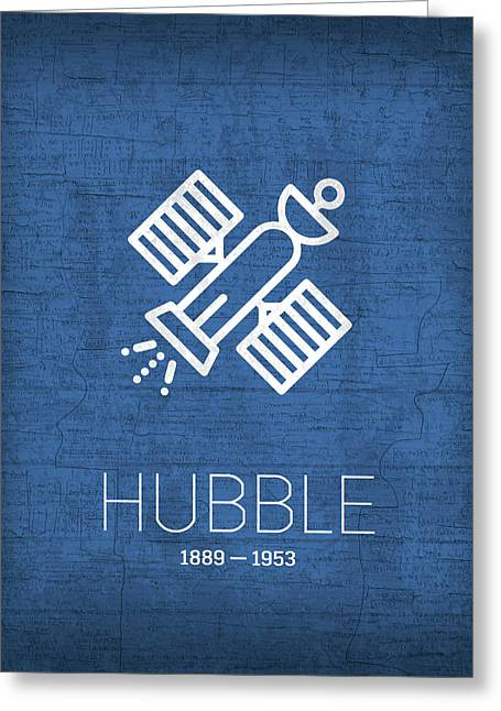 The Inventors Series 004 Hubble Greeting Card by Design Turnpike