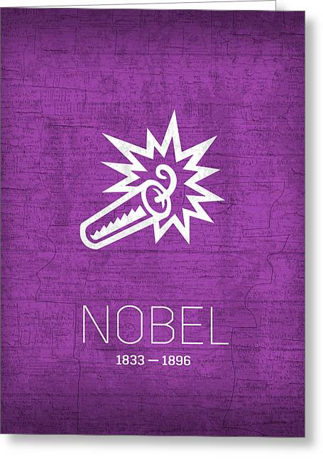 The Inventors Series 006 Nobel Greeting Card by Design Turnpike