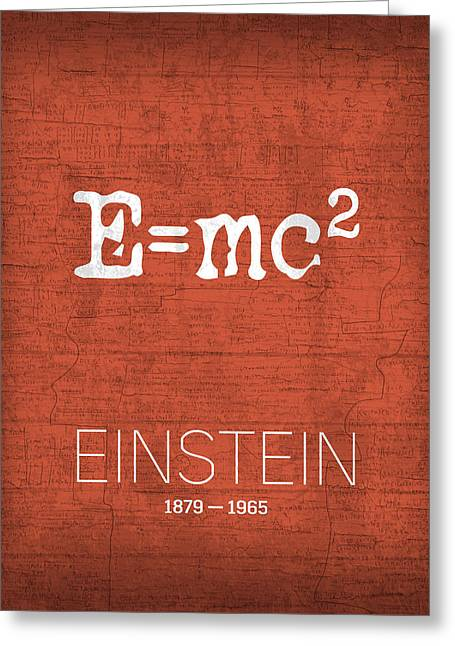 The Inventors Series 009 Einstein Greeting Card by Design Turnpike