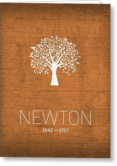 The Inventors Series 010 Newton Greeting Card by Design Turnpike