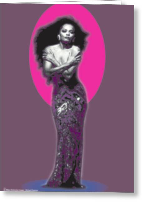 The Invincible Diana Ross Greeting Card