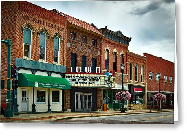The Iowa Theatre Greeting Card by Mountain Dreams