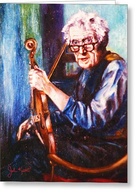 The Irish Violin Maker Greeting Card by John Keaton