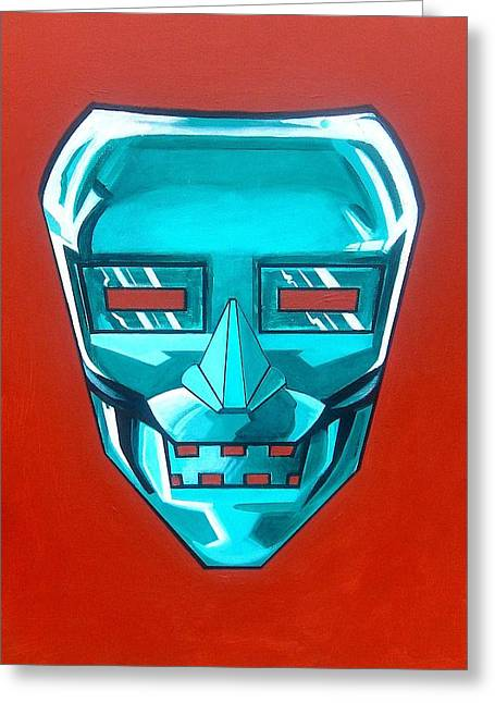 The Iron Mask Greeting Card by George Penon Cassallo