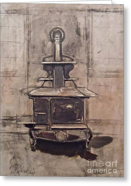 Iron Greeting Cards - The Iron Stove Greeting Card by Wade Hampton