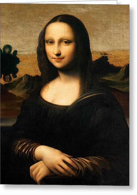 The Isleworth Mona Lisa Greeting Card by Leonardo Da Vinci