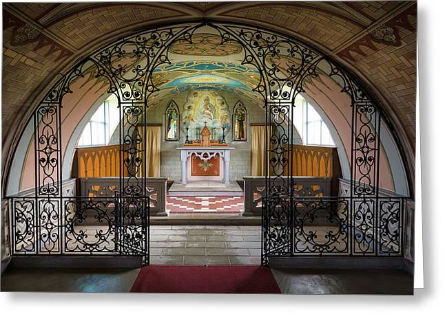 The Italian Chapel Greeting Card by Dave Bowman
