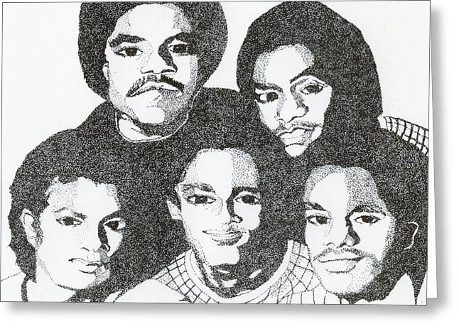 The Jacksons Tribute Greeting Card