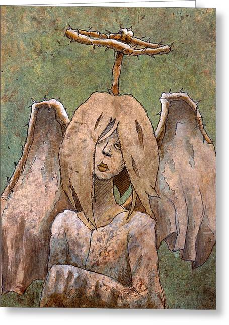 The Jaded Angel Greeting Card by Ethan Harris