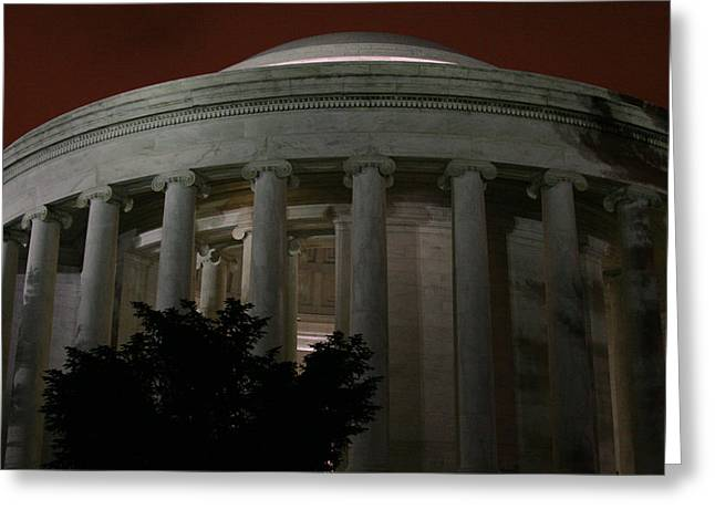 The Jefferson Memorial At Night Greeting Card by Brian M Lumley