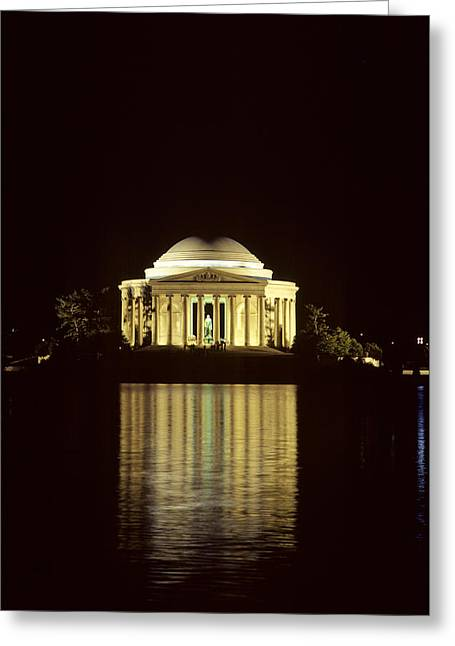 The Jefferson Memorial At Night Greeting Card by Kenneth Garrett