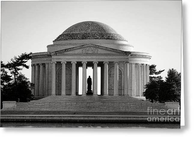 The Jefferson Memorial  Greeting Card by Olivier Le Queinec