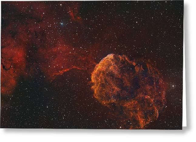 Interstellar Clouds Greeting Cards - The Jellyfish Nebula Greeting Card by Rolf Geissinger
