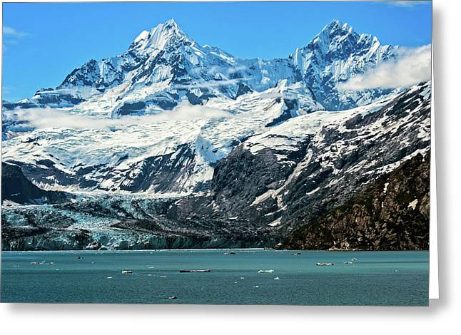 Greeting Card featuring the photograph The John Hopkins Glacier by John Hight