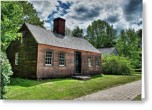 Greeting Card featuring the photograph The John Wells House In Wells Maine by Wayne Marshall Chase