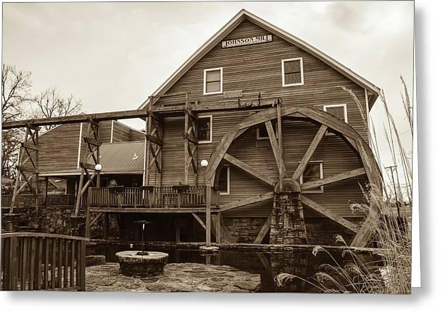 The Johnson Mill - Near Fayetteville Arkansas - Sepia Greeting Card