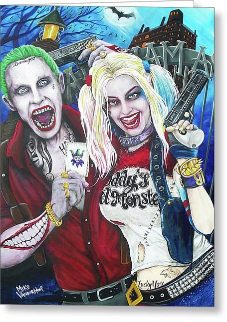 The Joker And Harley Quinn Greeting Card