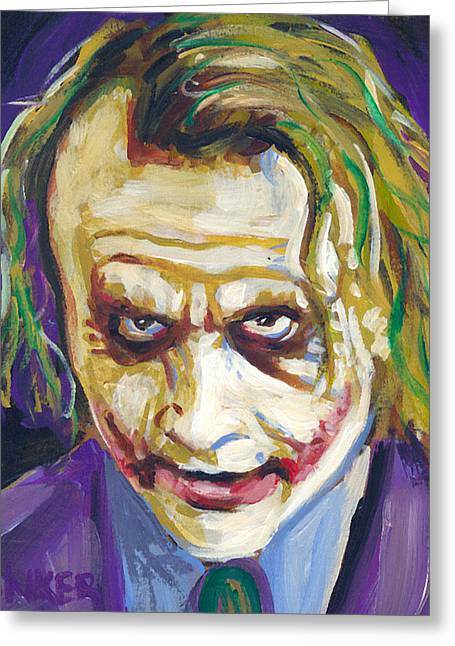 The Joker Greeting Card by Buffalo Bonker