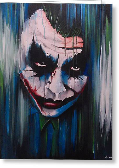 The Joker Greeting Card by Michael Walden