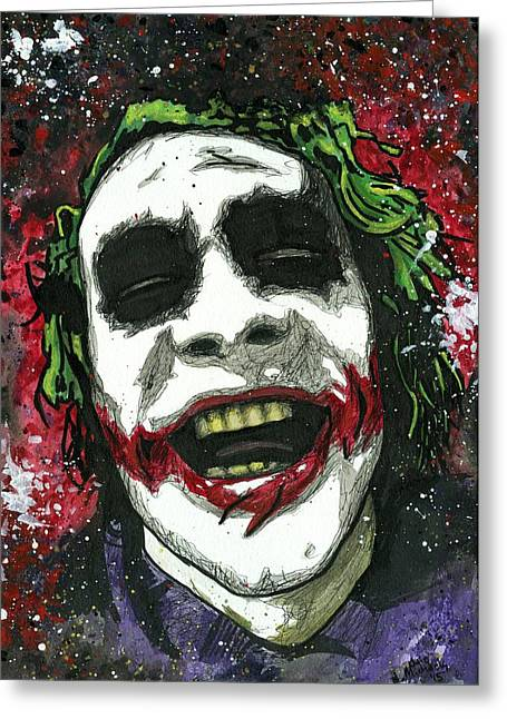 The Joker Greeting Card by Nate Michaels