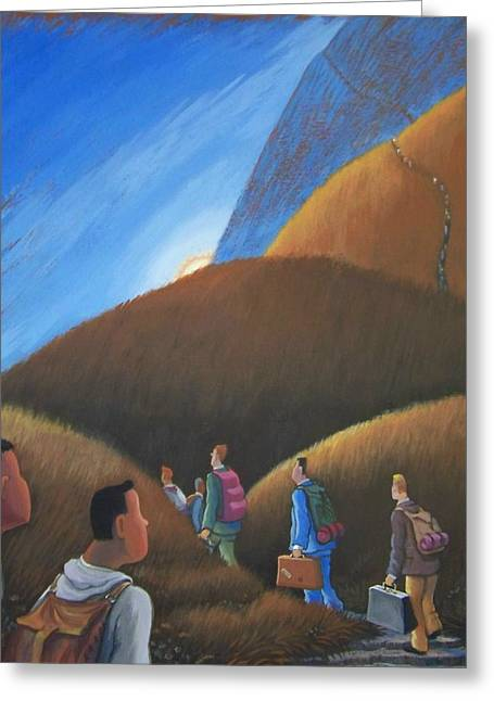 The Journey Men Greeting Card by Marjorie Hause