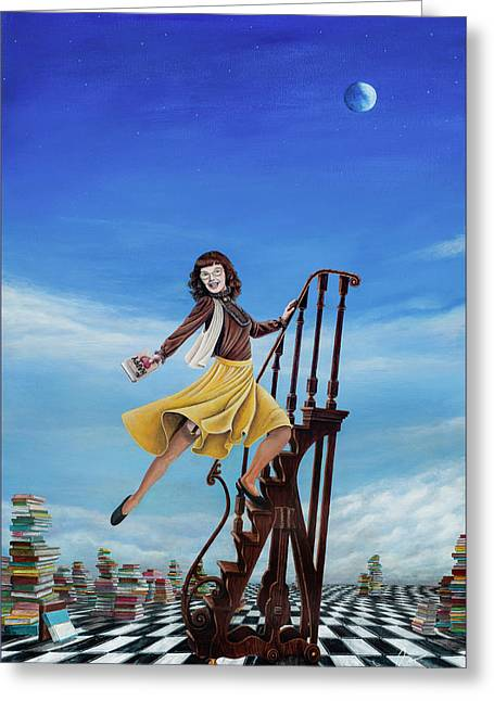 The Journey Of A Librarian Greeting Card by Cindy D Chinn
