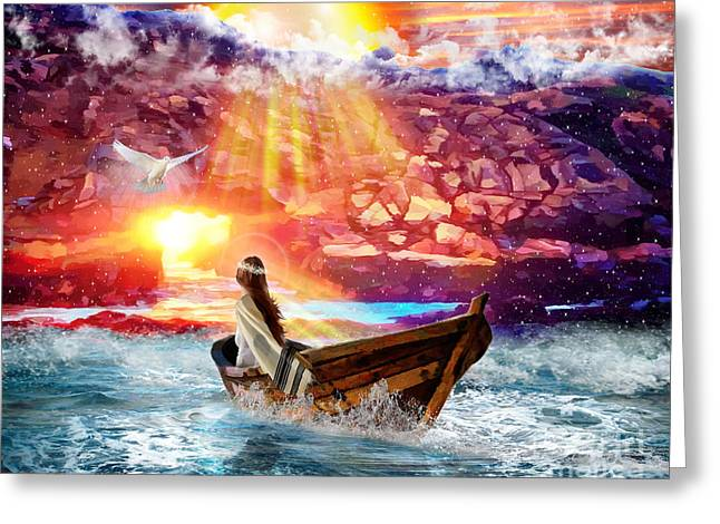 The Joy Of Adonai Is Your Strength Greeting Card by Dolores Develde