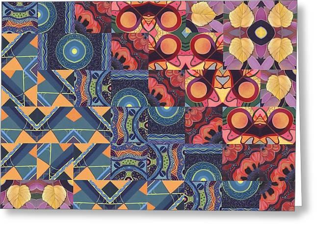 The Joy Of Design Mandala Series Puzzle 5 Arrangement 6 Greeting Card by Helena Tiainen