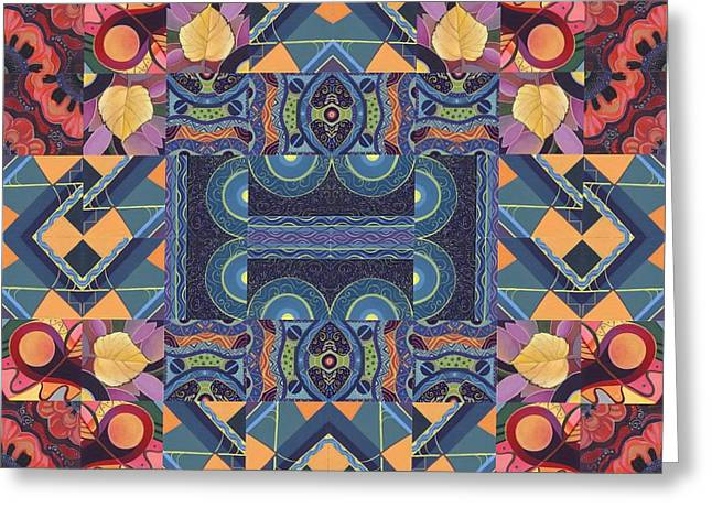 The Joy Of Design Mandala Series Puzzle 5 Arrangement 7 Greeting Card by Helena Tiainen