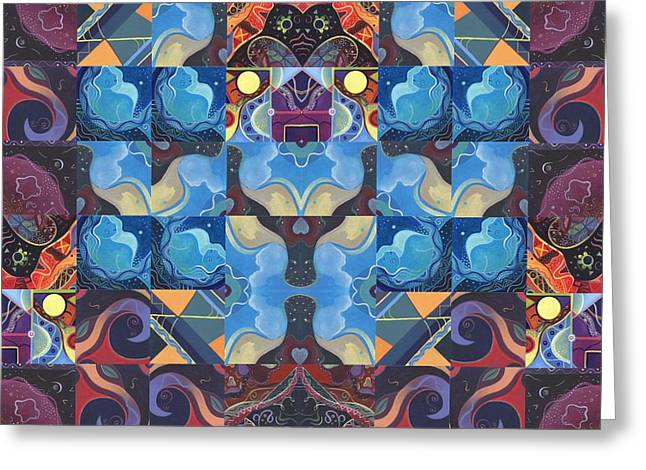 The Joy Of Design Mandala Series Puzzle 6 Arrangement 6 Greeting Card by Helena Tiainen