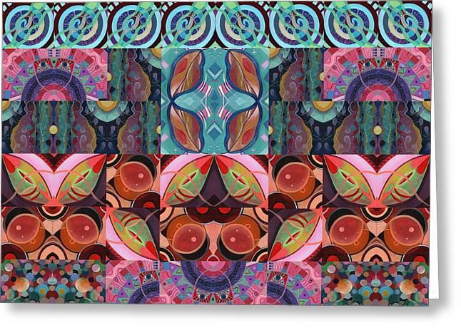 The Joy Of Design Mandala Series Puzzle 7 Arrangement 3 Greeting Card
