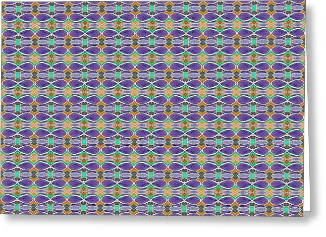 The Joy Of Design X X X I I I Arrangement 1 Tile 9x9 Inverted Greeting Card