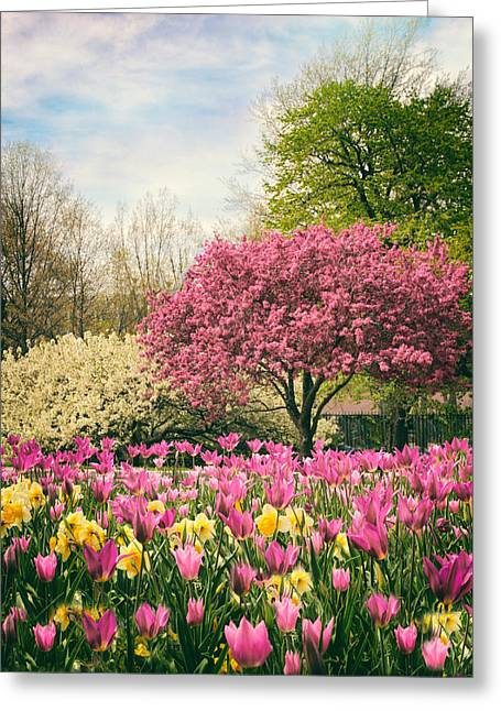 Greeting Card featuring the photograph The Joy Of Tulips by Jessica Jenney