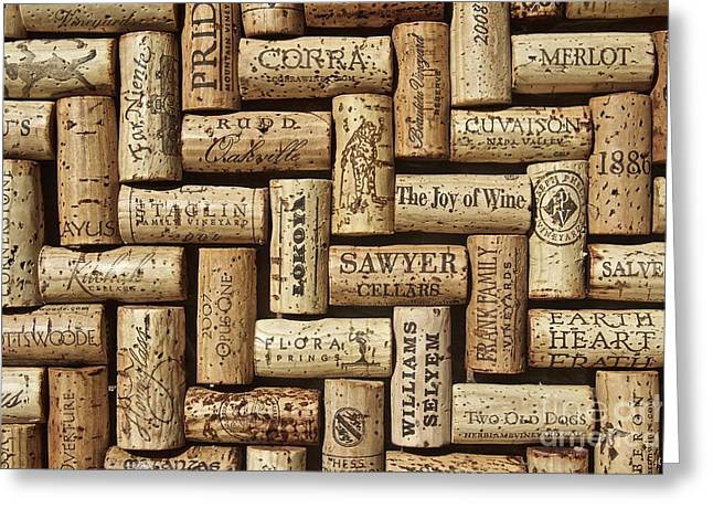 The Joy Of Wines Greeting Card by Anthony Jones