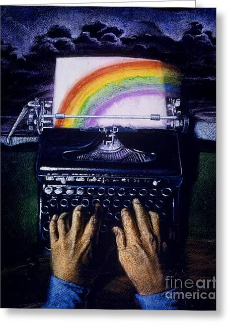 The Joy Of Writing Greeting Card