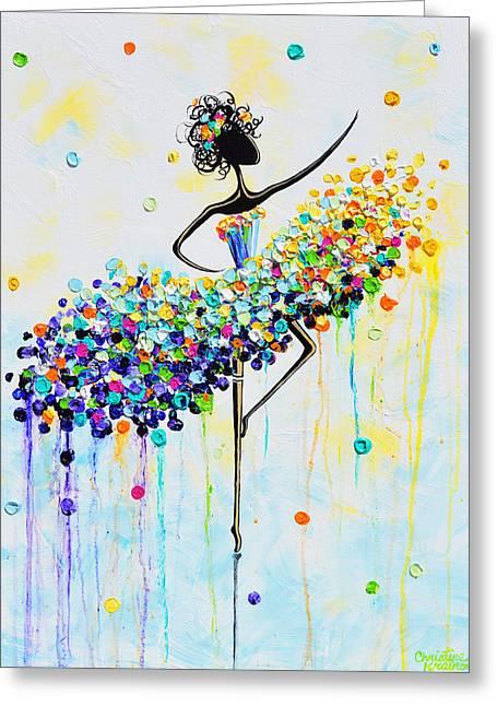The Joyful Dancer Greeting Card
